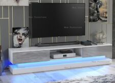 Modern 180cm TV Unit Cabinet TV Stand - Matt Body & High Gloss Doors LED Light