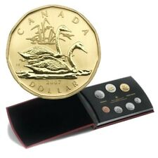 2007 Canadian Specimen 7-Coin Collector Set ft $1 Trumpeter Swan Loonie Dollar