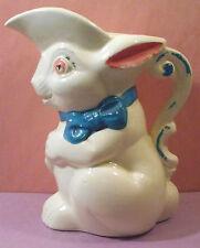 "Vtg Easter Breakfast Syrup Pitcher BUNNY RABBIT Decoration 6"" ceramic"