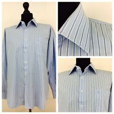 "Daniel Hechter Mens Shirt 16.5"" Collar X Large Blue Striped Cotton       (A97)"