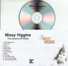 MISSY HIGGINS The Sound Of White 2004 UK 12-track promo test CD