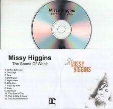 MISSY HIGGINS The Sound Of White 2004 UK 12-track promo test CD
