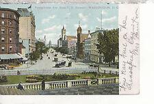 Pennsylvania Avenue from Treasury   Washington D.C.Mailed 1901 UDB Postcard 3117