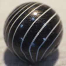 """BB Marbles: Black Clambroth. 11/16"""". Near Mint+.  (J1)"""