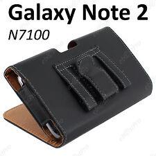 Housse Coque Etui Pochette PU Cuir Clip Ceinture Samsung Galaxy Note II 2 N7100