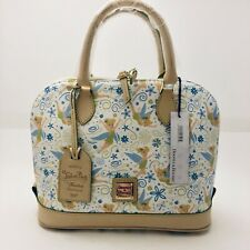 Dooney & Bourke Disney Tinkerbell Floral Half Marathon Zip Zip Satchel Bag Purse