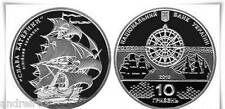 Ukraine Coin hryvnia 10 UAH Linear ship Glory of Catherine 2013 silver
