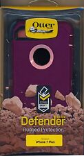 authentic OtterBox DEFENDER iPhone 7 Plus + Case purple pink~Reg $60