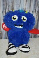 Build a Bear Blue Mixter Monster Plush Red Arms Stripe Legs BAB Stuffed Animal