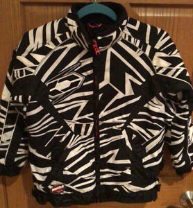 Castle X Snowmobile-jacket Youth Medium Black And White Special Edition