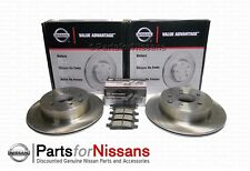 GENUINE NISSAN 2007-2013 VERSA SEDAN 1.8 FRONT DISC ROTORS BRAKE PAD VA KIT