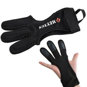 Bogenschießen Handschuh 3 Finger Guard Schutzhandschuhe Bogensport Fingerschutz