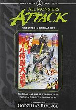Godzilla All Monsters Attack AND GODZILLA'S REVENGE DVD RARE!  USA RELEASE!