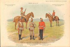 1900 Richard SIMKIN stampa militare, 154 TIPI DI TASMANIA e Nuova Zelanda regim