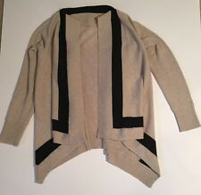 Banana republic women cardigan black and beige wool and cashmere blend size M