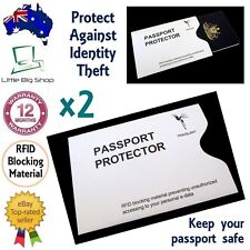 2 x New Passport Protector RFID Blocking Security Sleeve Anti-Theft Defender