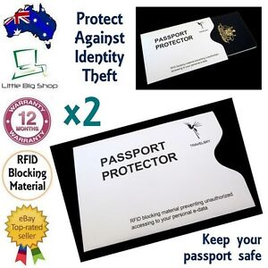 2 x New Passport Protector RFID Blocking Security Sleeve Anti-Theft Defender