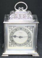 """Imhof 15j Fancy 6"""" Silverplate Carriage Clock - Vintage - Parts/Repair"""