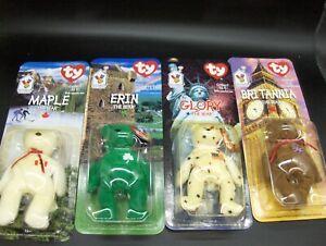 McDonalds TY Beanie Babies 1 Complete Set of 4 International Bears Never Opened