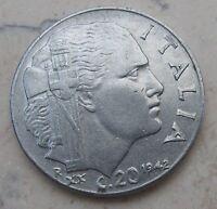 20 Cent Regno d'Italia V. Emanuele III tipo Impero 1942 XX -  n 958