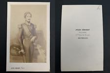 Géruzet, Bruxelles, Léopold II, roi des Belges Vintage carte de visite, CDV. L