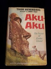 Thor Heyerdahl Aku-Aku Secret of Easter Island  1st  Ed, 1st Printing