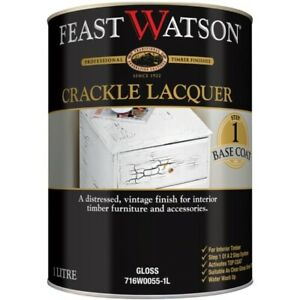 Feast Watson 1L Crackle Lacquer Gloss Base Coat for Distressed Vintage Finish