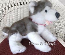 Build-A-Bear Retired Siberian Husky Dog Push Stuffed Gray & White Puppy