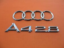 96 97 98 99 00 01 AUDI A4 2.8 REAR TRUNK EMBLEM LOGO BADGE SIGN SYMBOL SET #3