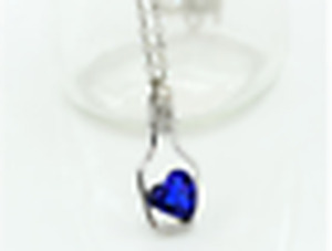 new Wishing bottle love clavicle chain necklace gift Deep blue