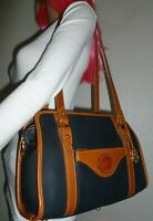 VINTAGE DOONEY & BOURKE NAVY AWL LEATHER SHOULDER BAG TOTE PURSE