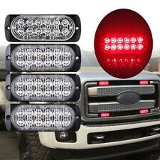 1Pc Red 12/LED Emergency Flash Light Car SUV Truck Warning Strobe Flashing Lamp