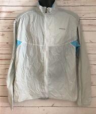 Patagonia Lightweight Running Windbreaker Jacket Mens Size Large Blue/Silver