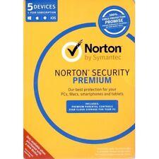 Norton Internet Security PREMIUM AntiVirus 2018 1 - 5 Device Windows Mac Android