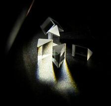 15PCS Optical Triangular Glass Right Angle Prism Optics Light Science Survey 90