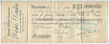 TRAITE 1894 CASTEL ET COUDERC EPICERIE DENREES COLONIALES TOULOUSE CACHET FISCAL