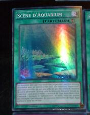 Yu-Gi-Oh SUPER RARE HOLO CARD CARTE DRL2-FR042 SCENE D'AQUARIUM VF 1ERE ED NEUF