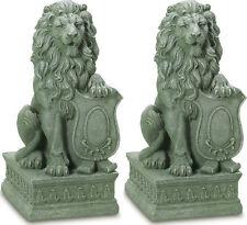 2 set LION Regal entryway step stair outdoor garden guardian statue sculpture