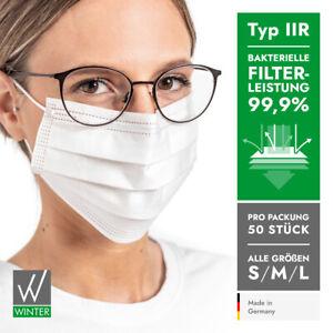 Medizinische Einweg OP-Masken 3-lagig Typ II R DIN EN 14683 (99,99% BFE) – weiß