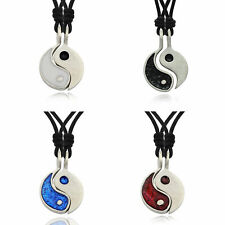 Yin Yang Feng Shui Ying Silver Pewter Best Friend Charm Necklace Pendant Jewelry