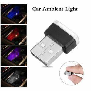 Portable Mini USB Light LED Car Interior Atmosphere Light Decoration Colours