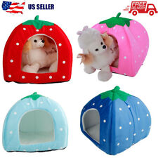 Pet House Cat Dog Sleeping Bed Soft Cushion Cave Nest Puppy Kennel Warm Pad Mat