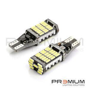 FOR FIAT 500L 2012-2018 WHITE 45 SMD LED REVERSE LIGHT BULBS