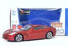 """Bburago 30010 Corvette Stingray (2014) """"Met Red"""" METAL Scala 1:43"""