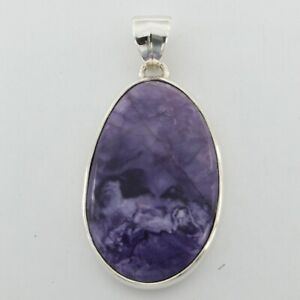 Purple TIFFANY STONE (Utah) ARTISAN Pendant - 925 STERLING SILVER #4e