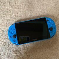 PlayStation Vita Game Console Wi-Fi Model PCH2000 ZA23 Aqua Blue Sony Japan F/S