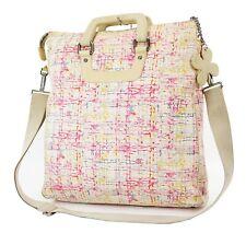 Authemtic CHANEL Beige Multicolor Canvas Tote Shoulder Bag Purse #37018