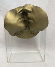 "JOHN J CUTRONE AUSTIN PROD INC FACE ""Tenderness"" KISSING Sculpture GOLD Rare"