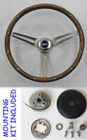 "Galaxie Fairlane Thunderbird GRANT Walnut Wood 15"" Steering Wheel, Cap, Kit"