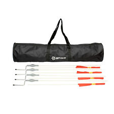 """Corner Flags for Soccer Field 60"""" Inch 4-Pack with 40"""" Inch Duffel Bag"""